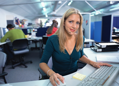 woman in technical support call center 2